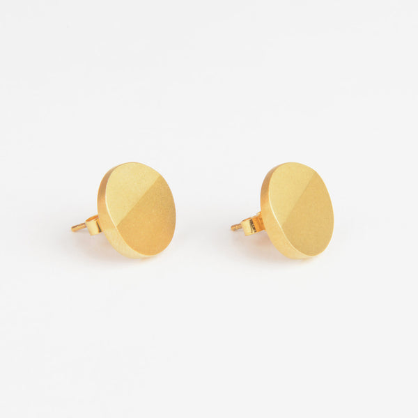 Béton Disc Earrings Gold