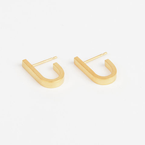 Béton Loop Earrings Gold