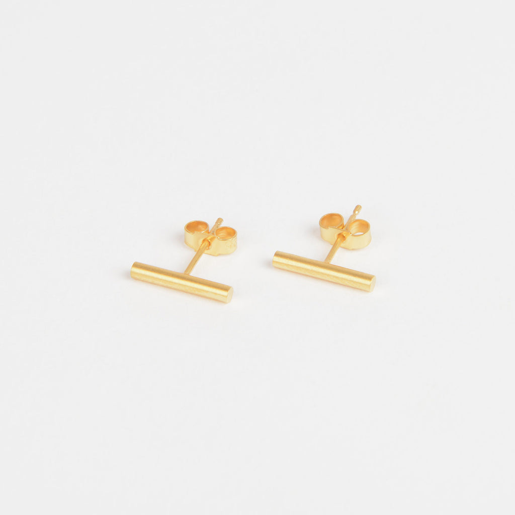 Béton Pillar Earrings Short Gold