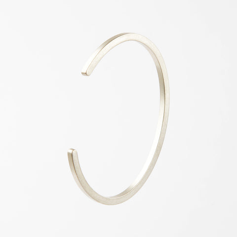 Béton Bar Bangle Silver