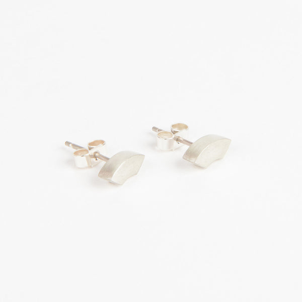 Béton Arc Earrings Silver