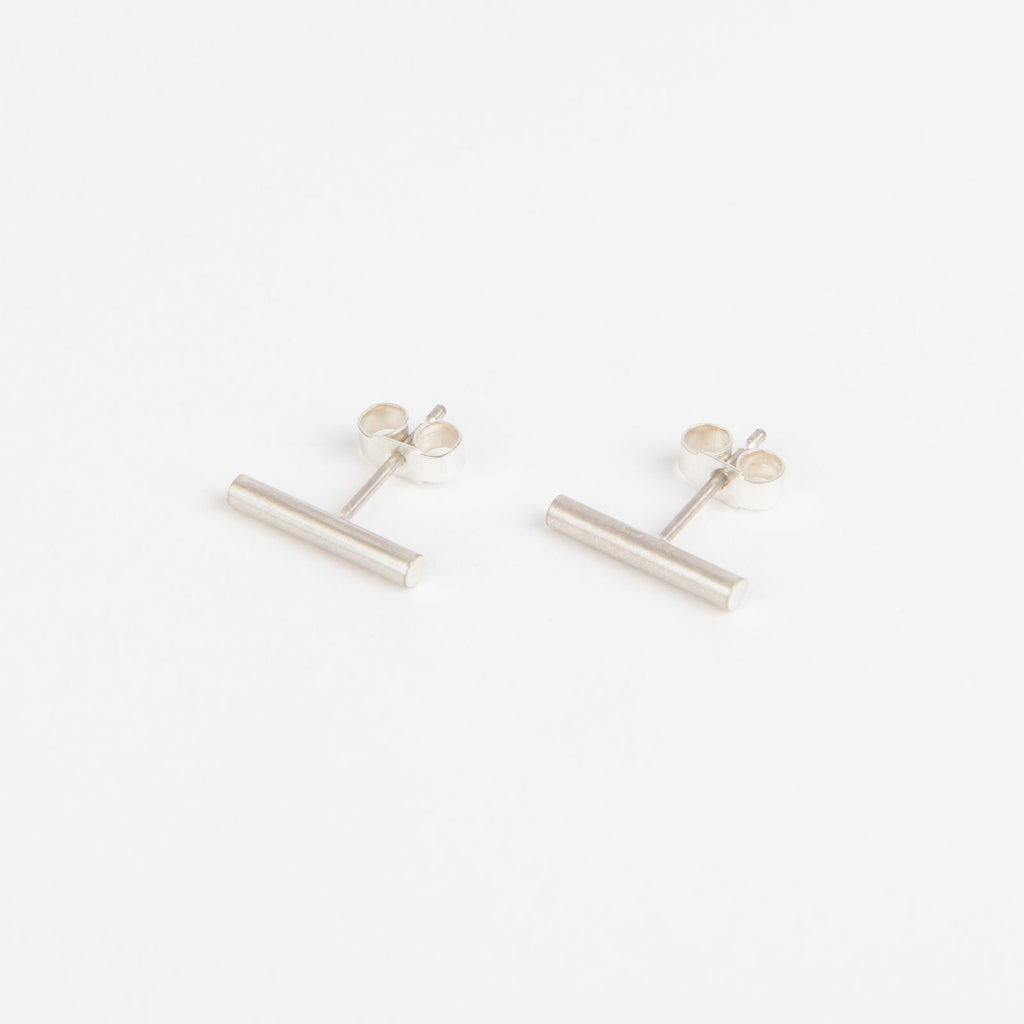 Béton Pillar Earrings Short Silver