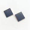 Barbican Blue Grid Earrings Sample