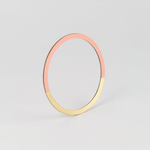 Form Circle Bangle Brass & Blush