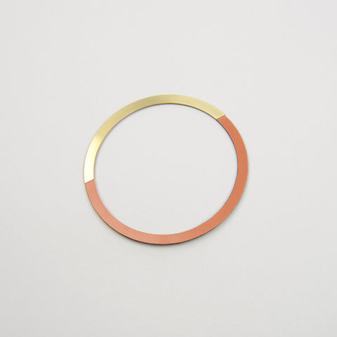 Form Circle Bangle Brass & Tan