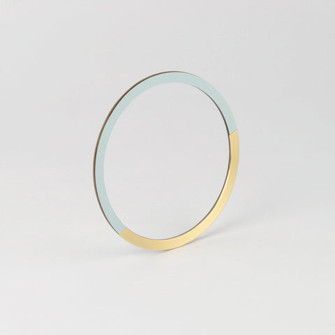 Form Circle Bangle Brass & Ice