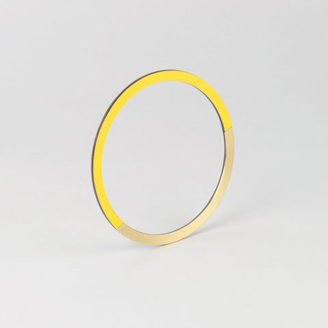 Form Circle Bangle Brass & Yellow