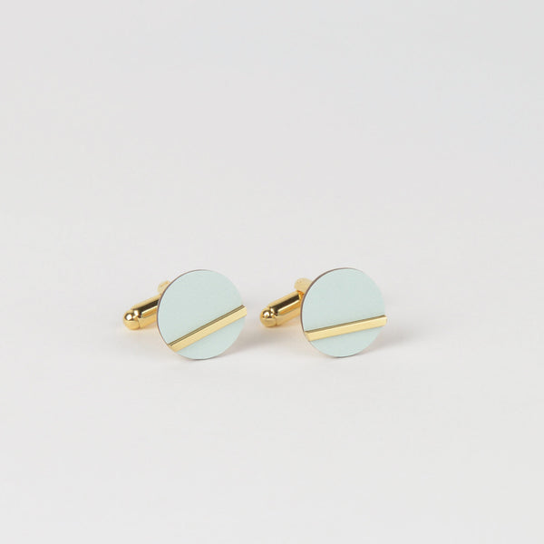 Form Circle Cufflinks Brass & Ice