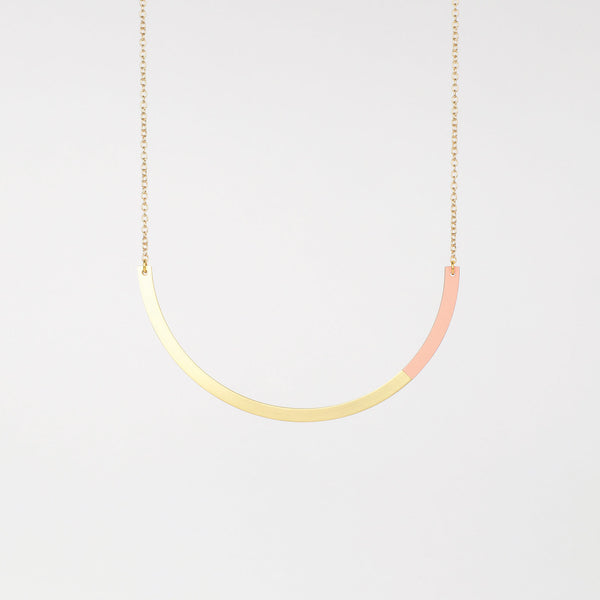 Form Circle Necklace Brass & Blush