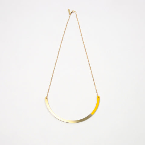 Form Circle Necklace Brass & Yellow
