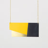 Form Panel Necklace Brass & Yellow