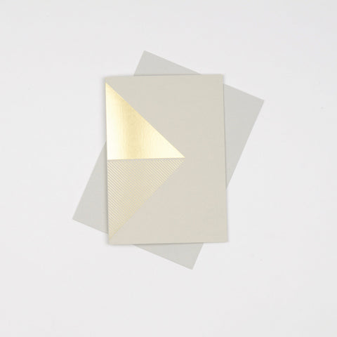 Reflex Card Brass & Grey