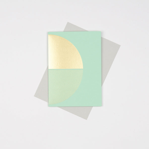 Reflex Card Brass & Mint