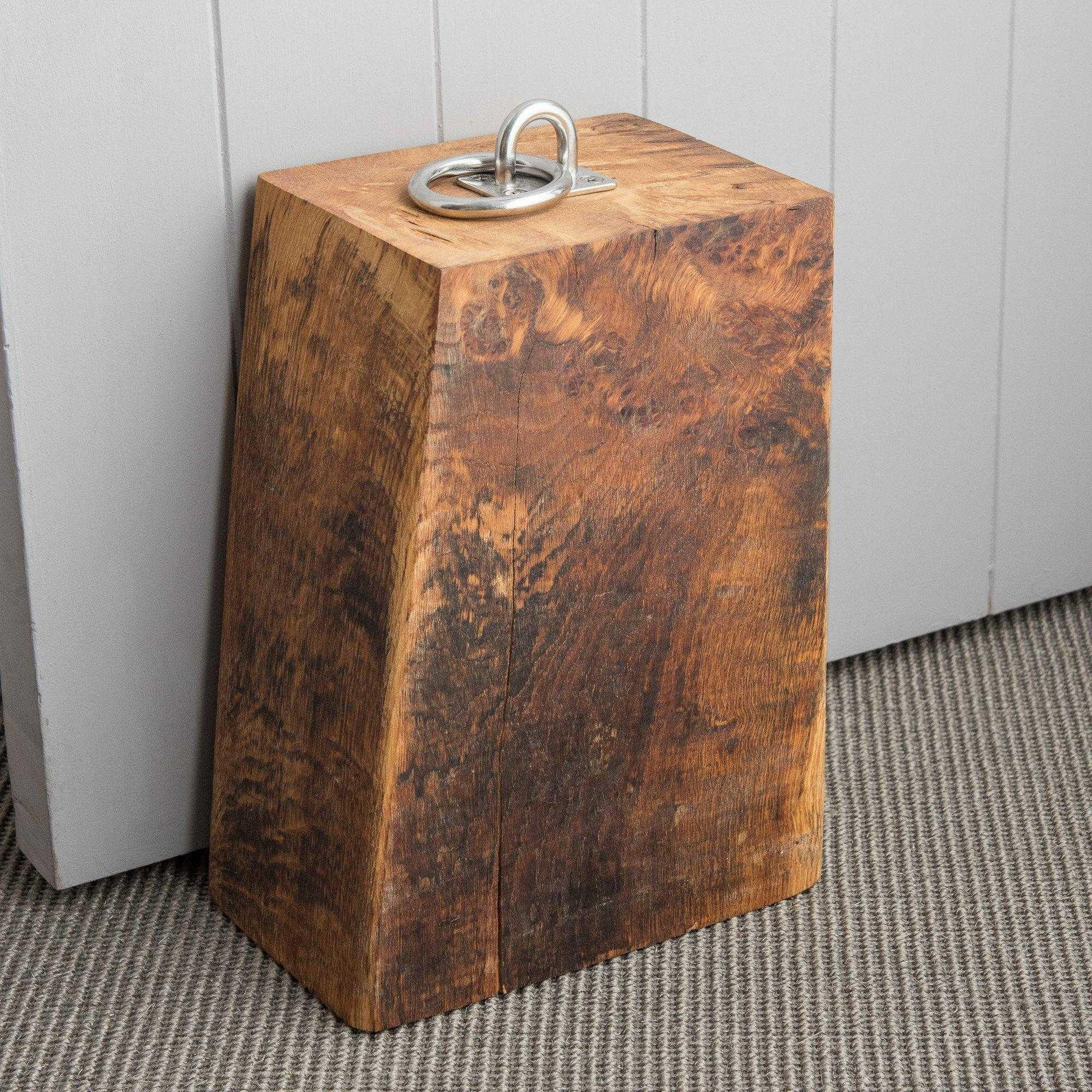 Devon Made Solid Heavy Oak Doorstop - distinctly-living