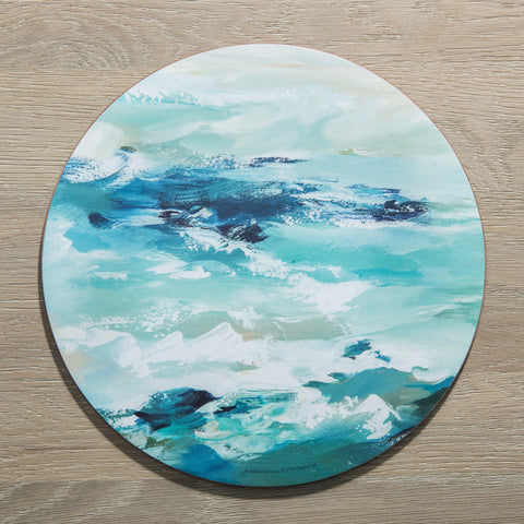 Set of 4 Modern Round Ocean Placemats-Distinctly Living