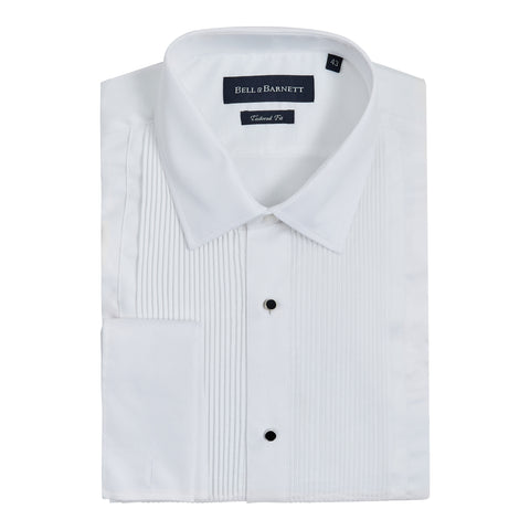 Dennis White Cotton Dinner Shirt