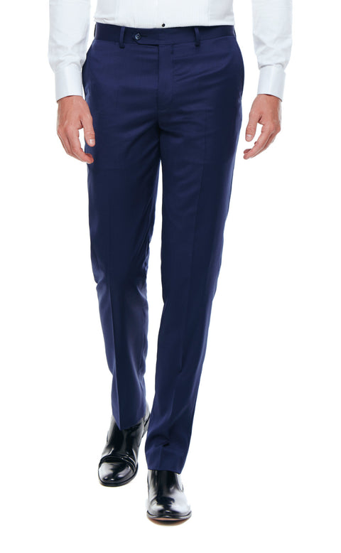 Axel Navy Slim Fit Wool Tuxedo Trousers