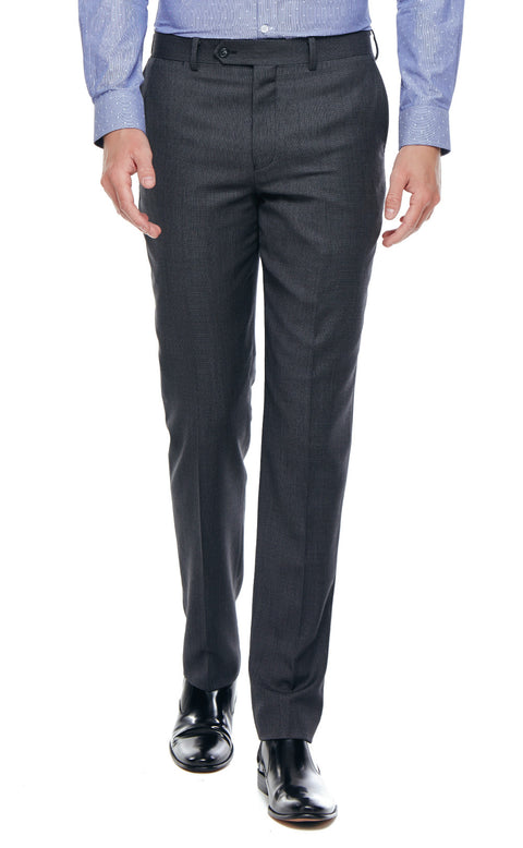 Kristoff Charcoal Slim Fit Wool Suit Trousers