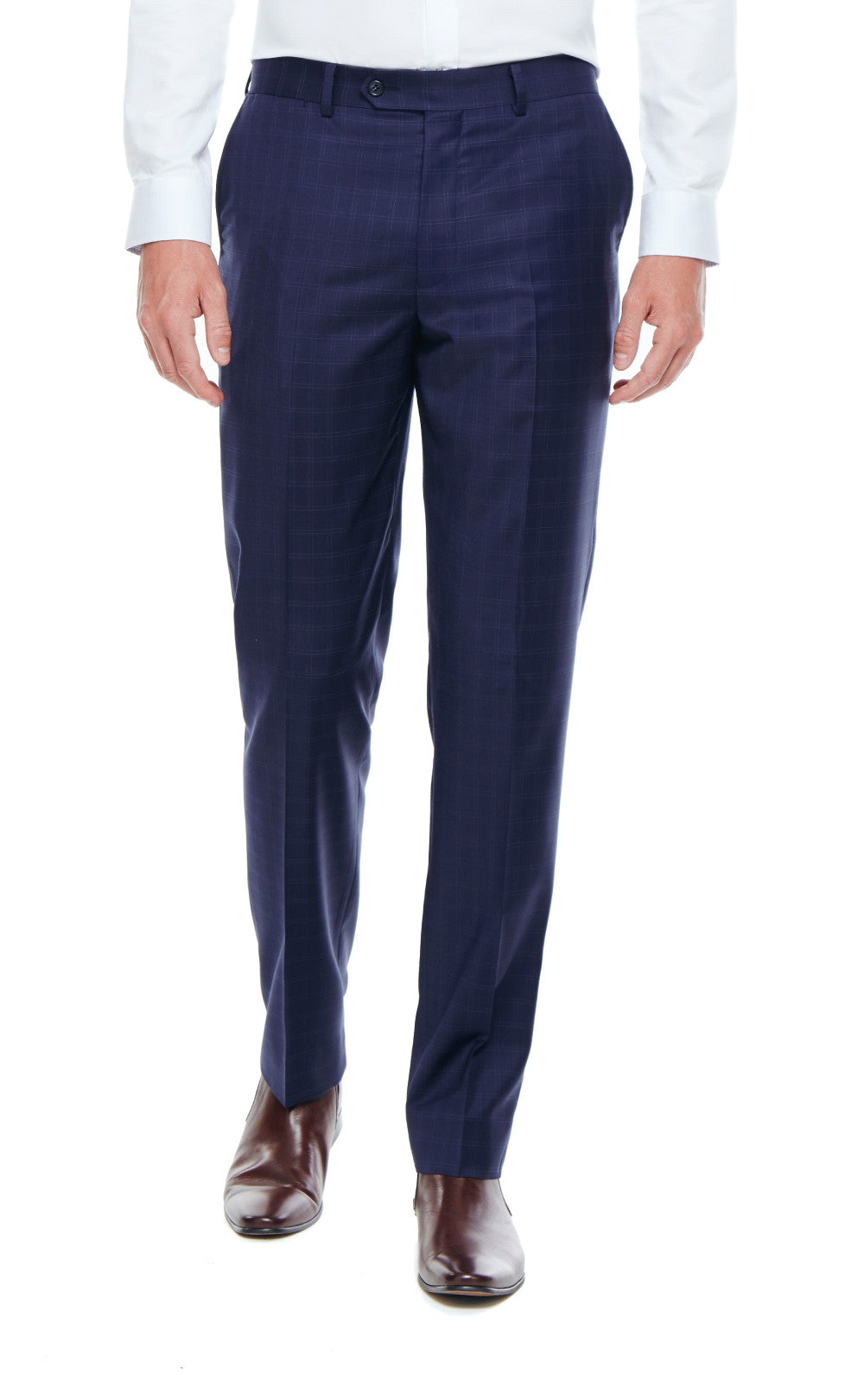 Harrison Navy Slim Fit Wool Suit Trousers