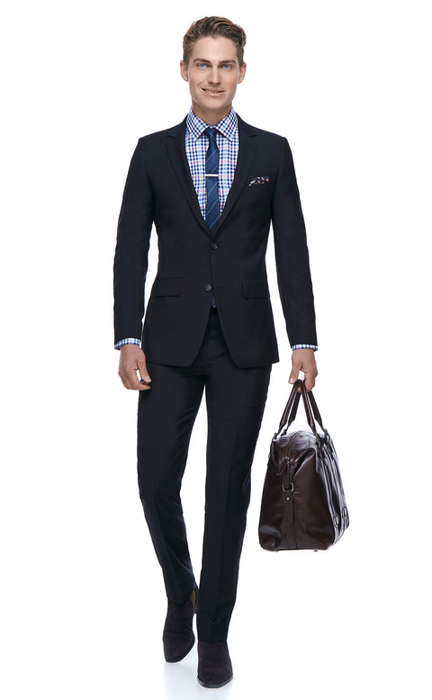 Harley Navy Slim Fit Suit