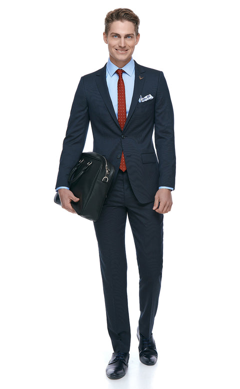 Newton Navy Slim Fit Suit
