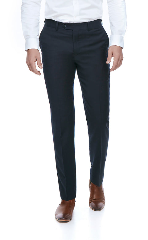 Royce Navy Slim Fit Suit Trousers