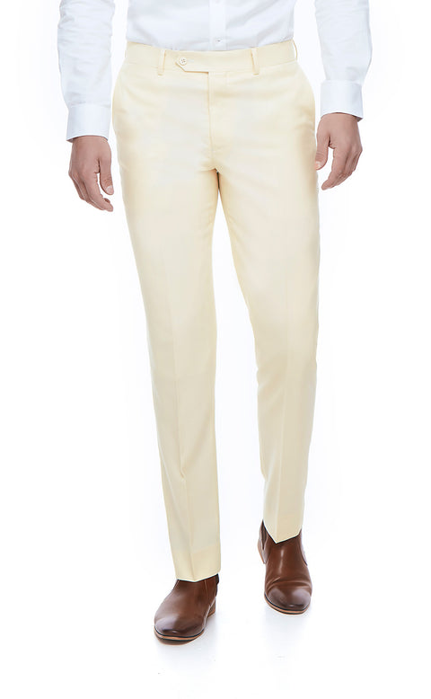 Jaxson White Slim Fit Suit Trousers