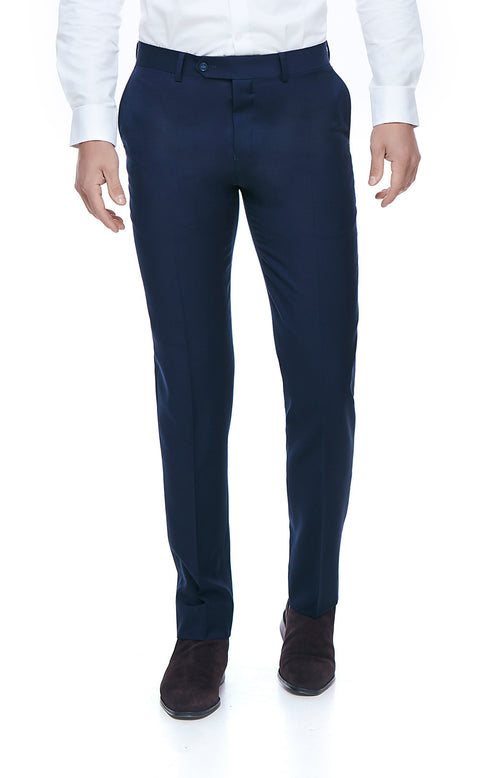 Harley Blue Slim Fit Suit Trousers