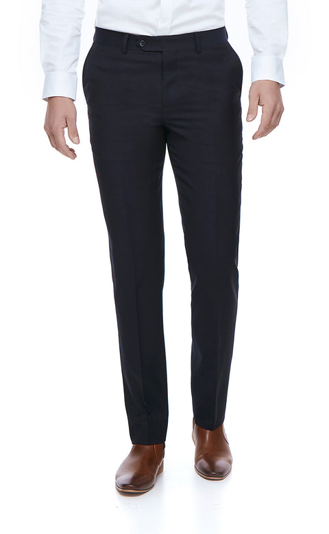 Harley Navy Slim Fit Suit Trousers