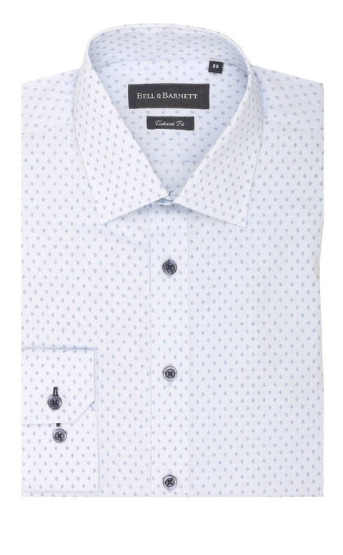 Aaron Blue Cotton Shirt
