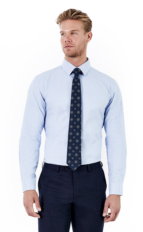 Jericho Blue Check Shirt