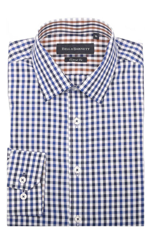 Chase Blue/Navy Check Cotton Shirt