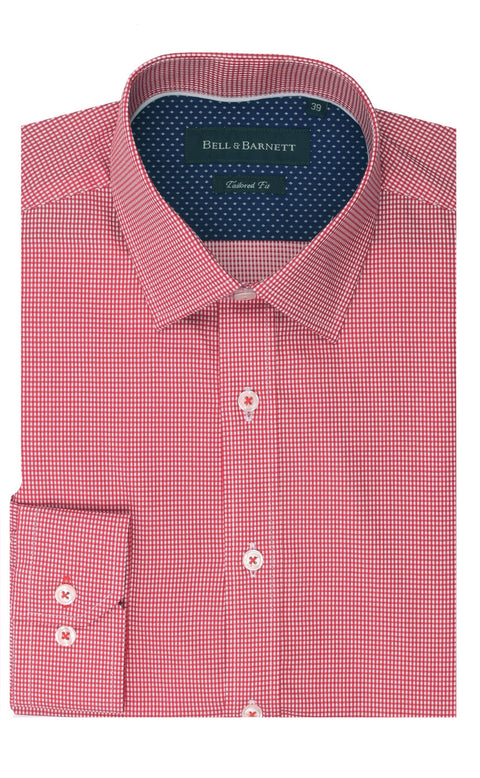 Landon Red Check Cotton Shirt