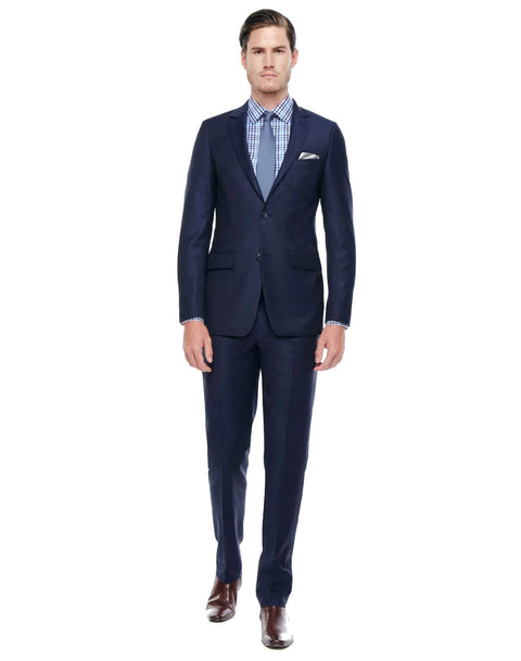 Geoffrey Navy Tailored Fit Wool Suit