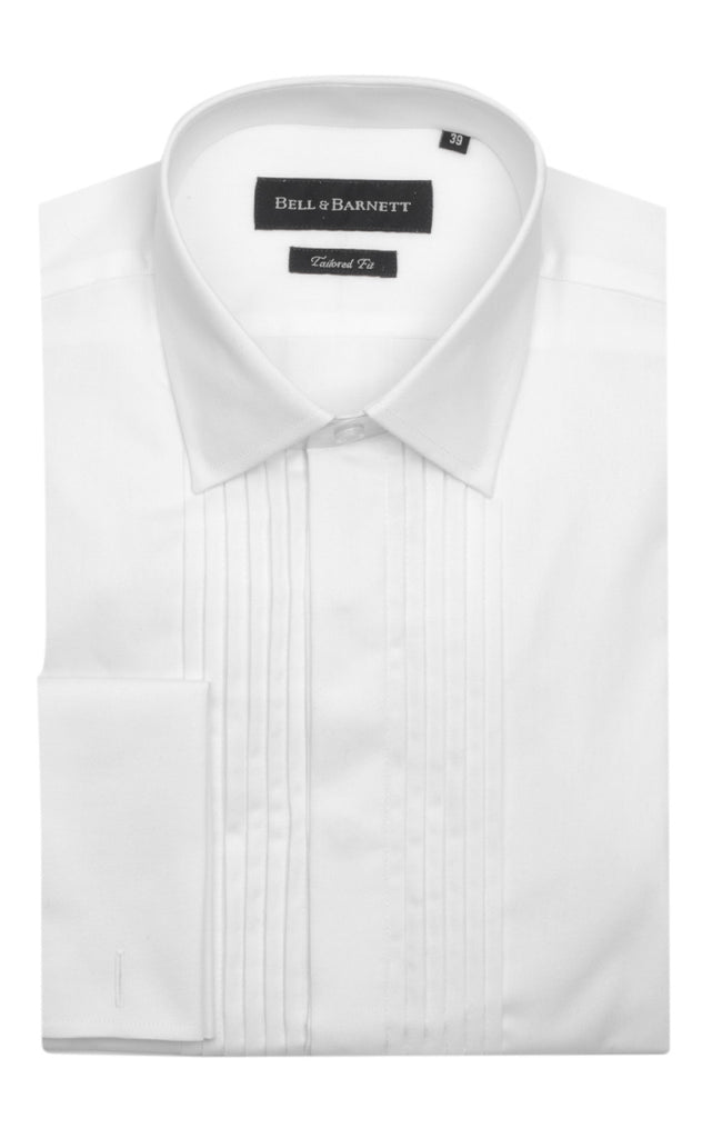 Evan White Cotton Dinner Shirt