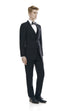 Formal black suit for men - front side.