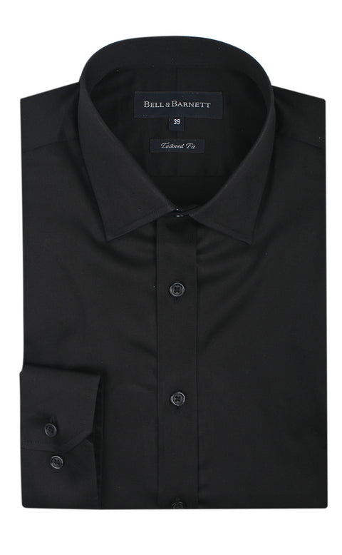 Christian Black Men's Tailored Fit Business Shirt - front.