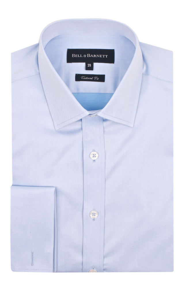 Duke Blue French Cuff Business Shirt - front.
