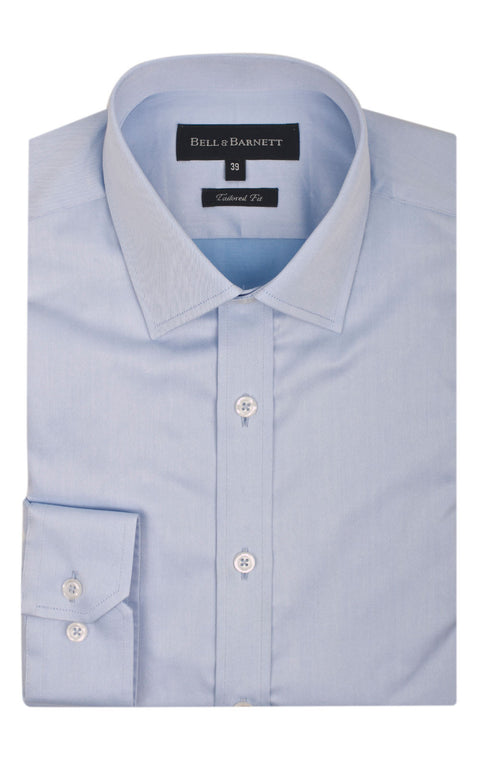 Bradley Blue Men's Business Shirt - front.