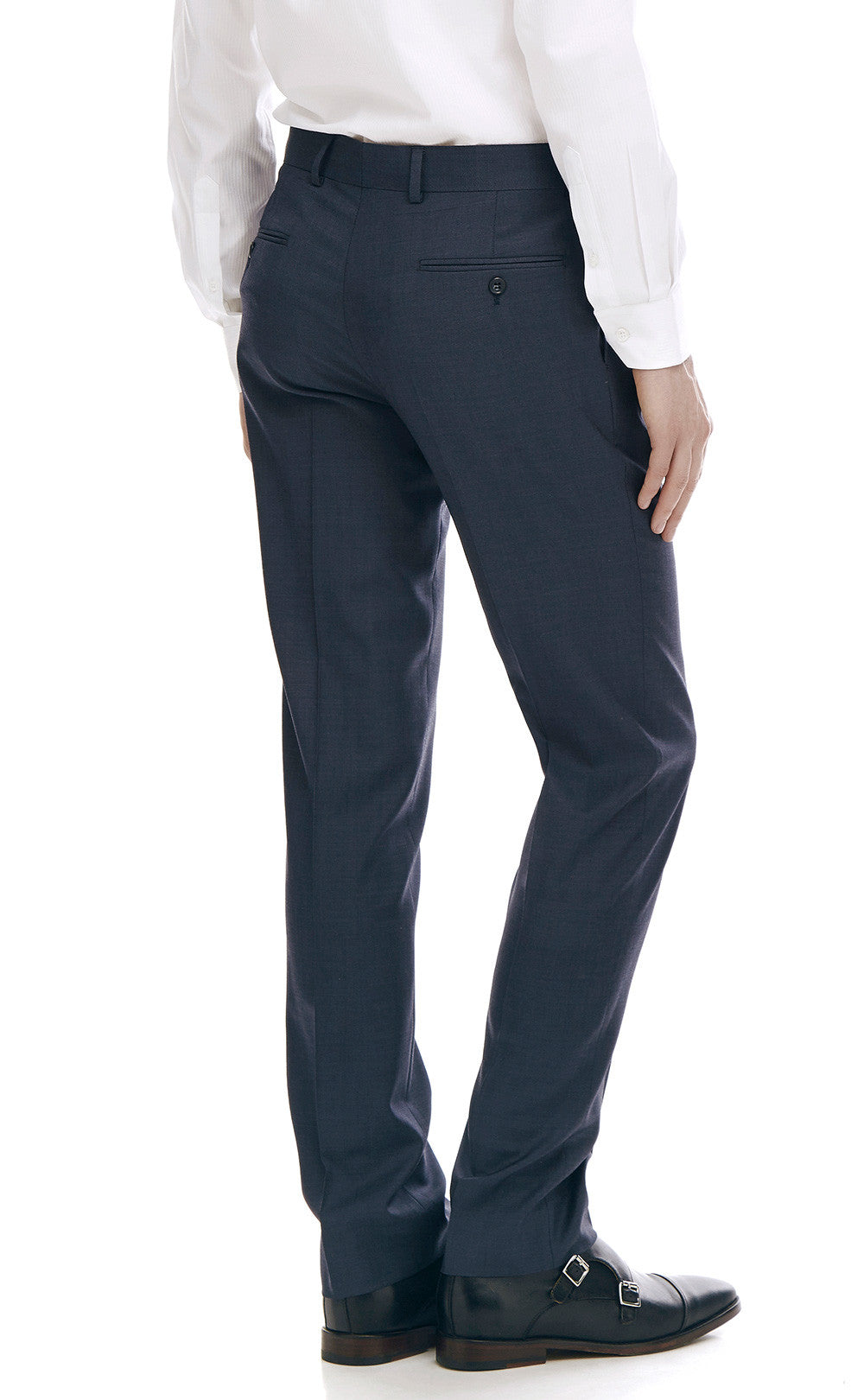 7115fa50c2 Maurice Navy Slim Fit Wool Suit Trousers