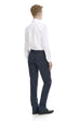 Wool suit trousers for men in navy - rear.