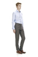 Grey business pants for men - front.