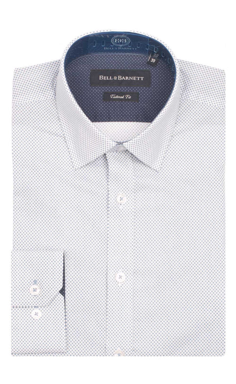 Caleb Navy Cotton Shirt