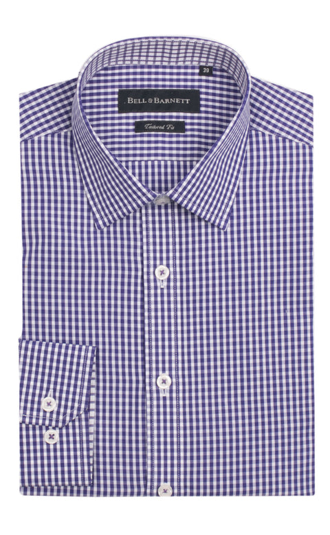 Canterbury Purple Check Cotton Shirt