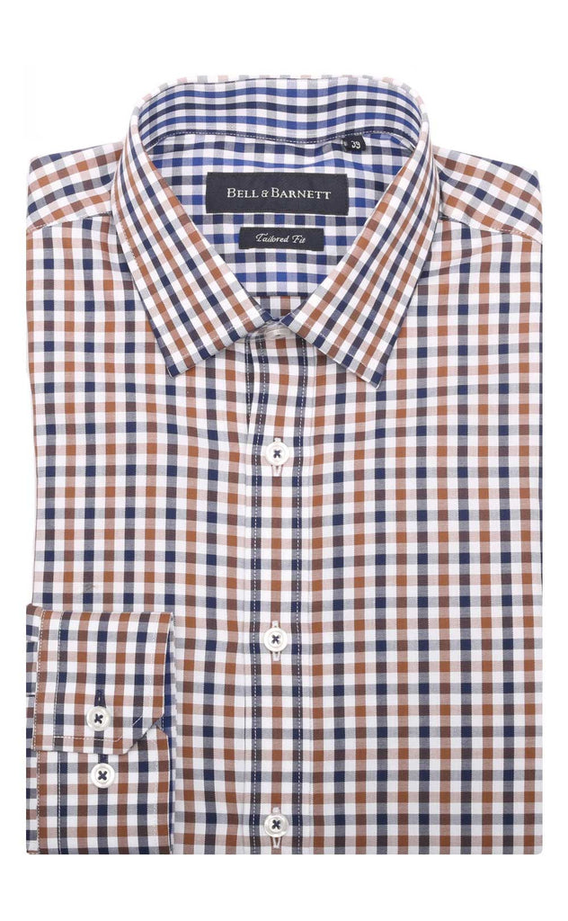 Chase Brown/Navy Check Cotton Shirt