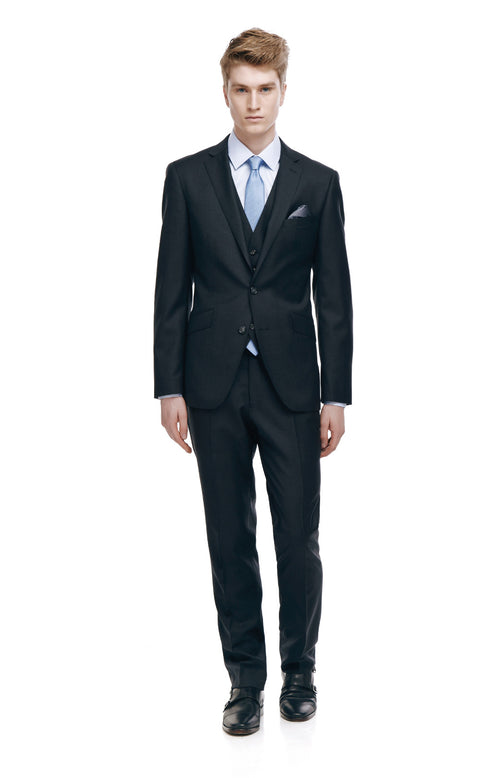 Devonte Charcoal Classic Fit Wool Suit