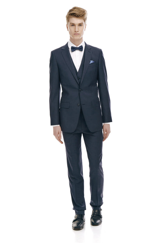 Maurice Navy Slim Fit Wool Suit