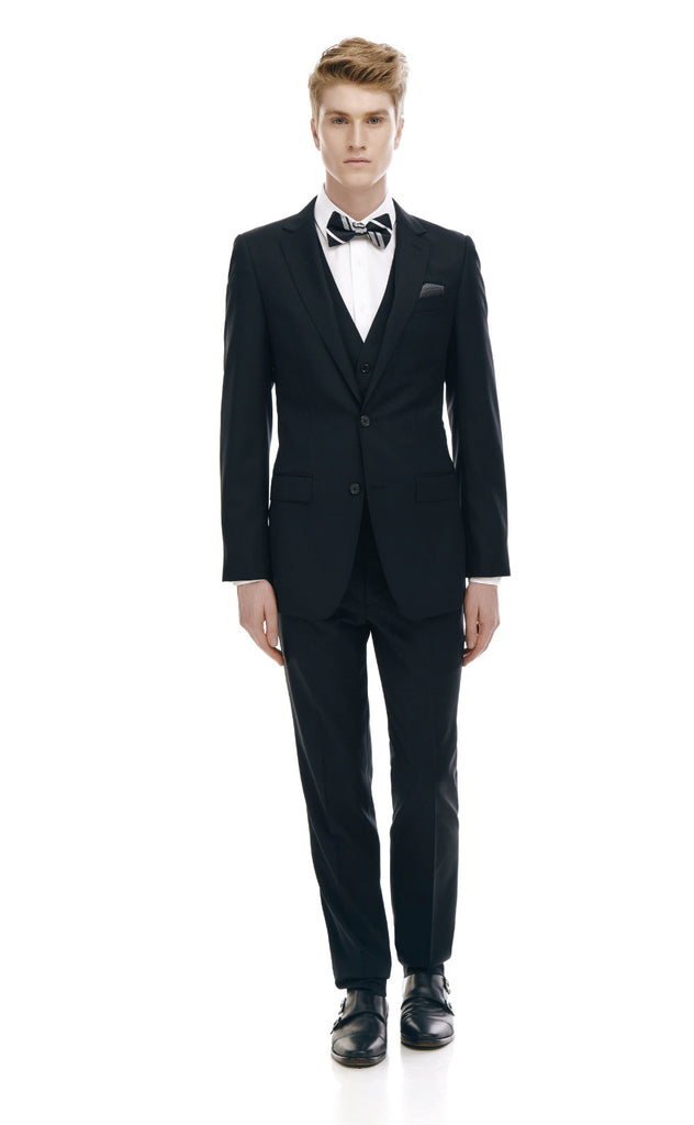 Maurice Black Slim Fit Wool Suit