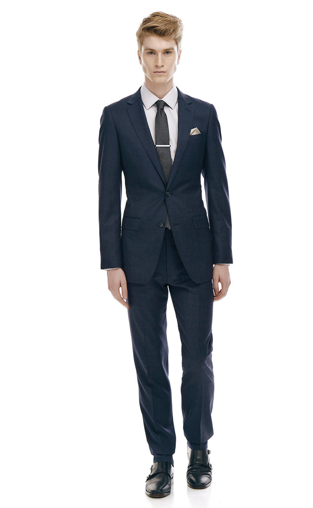 Pharrell Navy Slim Fit Wool Suit