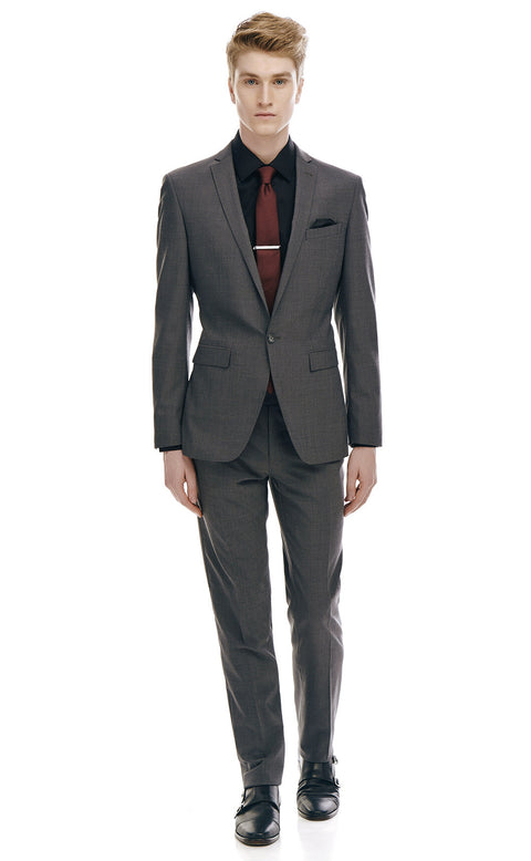 Alberto Charcoal Single Button Suit